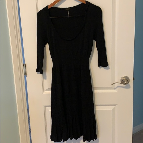 Sandra Angelozzi Black Knit Dress